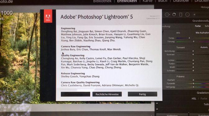 Update: Lightroom Classic und CC von Adobe nur noch im Abo