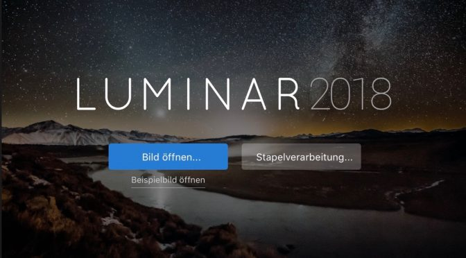 Abschied: Bye, bye Lightroom, hello Luminar 2018!
