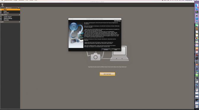 How to: Softwareupdate mit Olympus